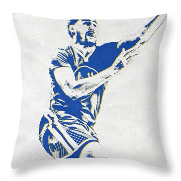 Klay Thompson Golden State Warriors Pixel Art Throw Pillow