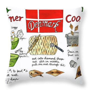Klejner Cookies Throw Pillow