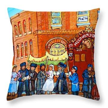 Street Muscians Throw Pillows