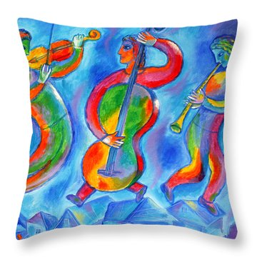 Klezmer On The Roof Throw Pillow