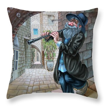 Klezmer Throw Pillow