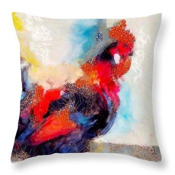 Klimt Cluck Throw Pillow