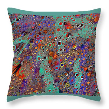 Klimt Trip Throw Pillow