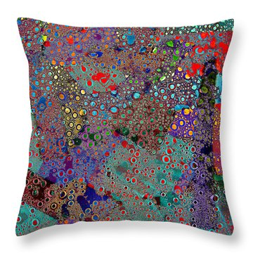 Klimtaroni Throw Pillow