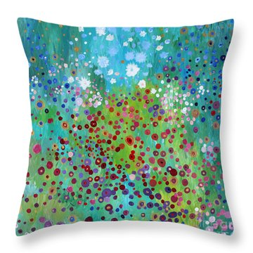Klimt's Garden Throw Pillow