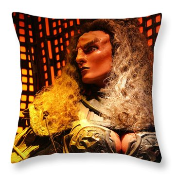 Throw Pillow featuring the photograph Klingon by Kristin Elmquist