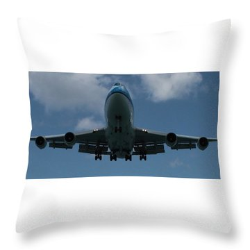 Klm Boeing 747 Throw Pillow