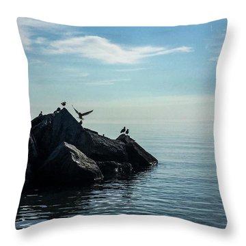 Klode Gulls Throw Pillow