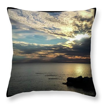 Klode Swimmers Throw Pillow