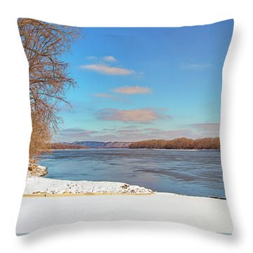 Klondike Park Boat Ramp Throw Pillow