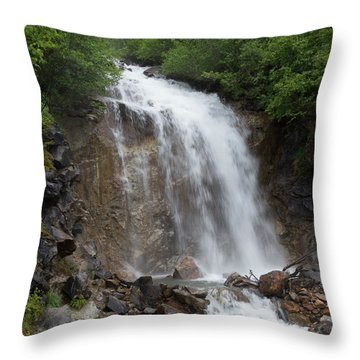 Throw Pillow featuring the photograph Klondike Waterfall by Ed Clark