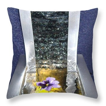 Knapped Falls Throw Pillow