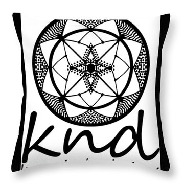 Throw Pillow featuring the painting Knd Logo by Kym Nicolas