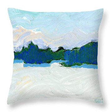 Knife Lake Throw Pillow