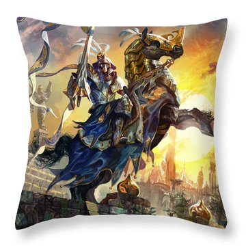 Knight Of New Benalia Throw Pillow by Ryan Barger