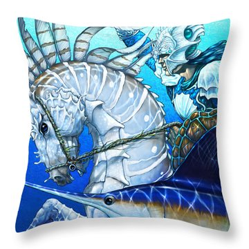 Throw Pillow featuring the digital art Knight Of Swords by Stanley Morrison