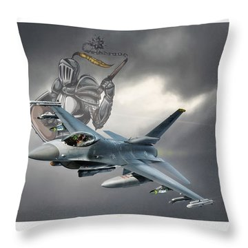 Knight Of The Sky Throw Pillow