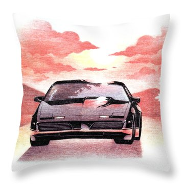 Throw Pillow featuring the digital art Knight Rider by Gina Dsgn