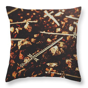 Knightly Fight Throw Pillow