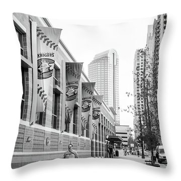 Knights Baseball Stadium Throw Pillow