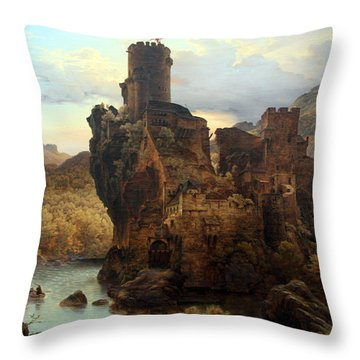 Knights Castle Throw Pillow