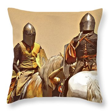 Knight's Conference Throw Pillow