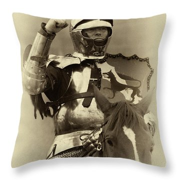 Throw Pillow featuring the photograph Knights Of Old 16 by Bob Christopher