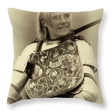 Throw Pillow featuring the photograph Knights Of Old 17 by Bob Christopher