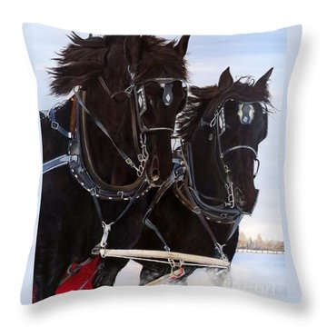 Knights On Four Throw Pillow
