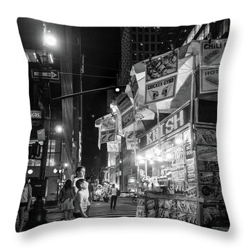 Knish, New York City  -17831-17832-bw Throw Pillow