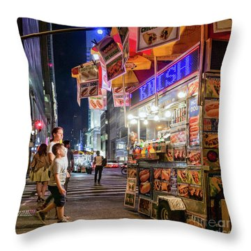 Throw Pillow featuring the photograph Knish, New York City  -17831-17832-sq by John Bald