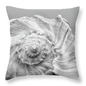 Throw Pillow featuring the photograph Knobbed Whelk by Benanne Stiens