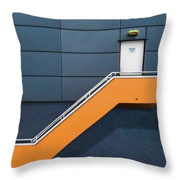 Knock Before Entering Throw Pillow