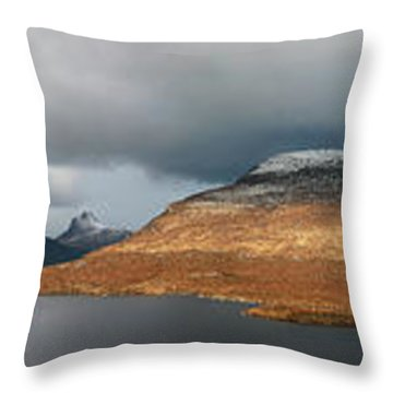 Throw Pillow featuring the photograph Knockan Crag Mountain View by Grant Glendinning