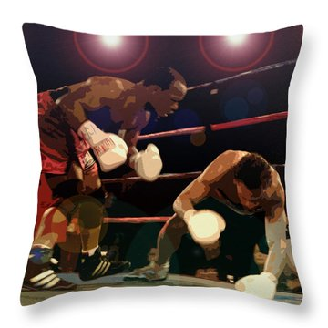 Knockdown Throw Pillow by David Lee Thompson