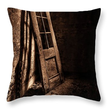 Knockin' At The Wrong Door Throw Pillow by Evelina Kremsdorf