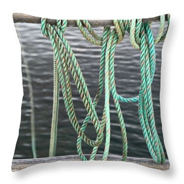 Throw Pillow featuring the photograph Knot Of My Warf II by Stephen Mitchell