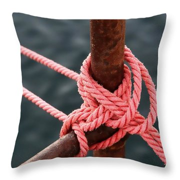 Throw Pillow featuring the photograph Knot On My Warf IIi by Stephen Mitchell