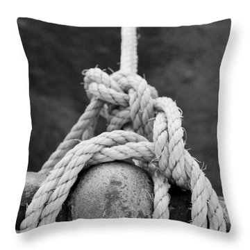 Throw Pillow featuring the photograph Knot On My Warf Iv by Stephen Mitchell