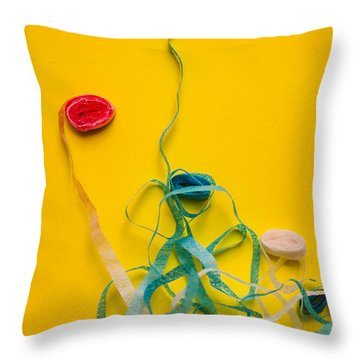 Knots And Birthday Tangles Throw Pillow
