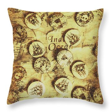 Knots And Buttons Throw Pillow