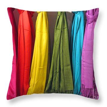 Knots And Fringe Throw Pillow