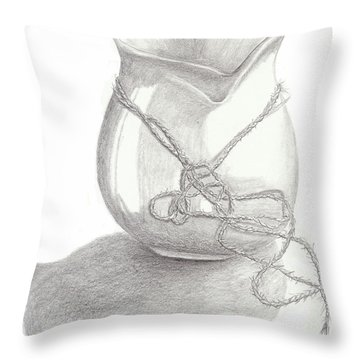 Knots On Vase Study Throw Pillow