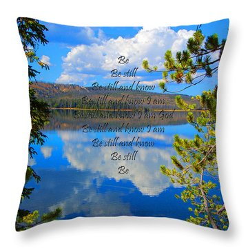 Throw Pillow featuring the photograph Know I Am by Diane E Berry