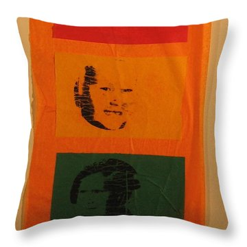Throw Pillow featuring the mixed media Know When To Stop by Erika Chamberlin