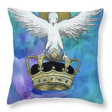 Throw Pillow featuring the painting Know Who You Are by Nathan Rhoads