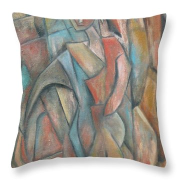 Knowing Throw Pillow by Trish Toro