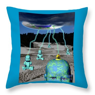 Knowledge From The Gods Throw Pillow by Keith Dillon