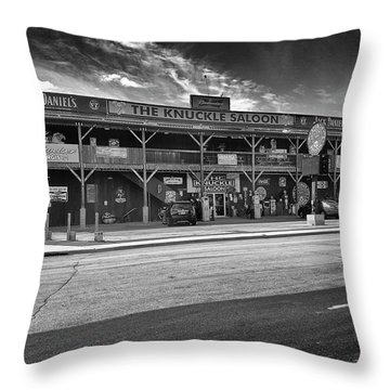 Knuckle Saloon Sturgis Throw Pillow