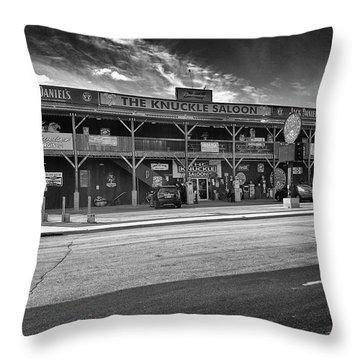 Knuckle Saloon Sturgis Throw Pillow